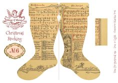 Wings of Whimsy: Vintage Christmas Stocking No 6 #freebie #printable #vintage #christmas #stocking