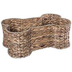 "DII Hyacinth Dog Toy and Accessory Storage Basket, Home Décor Bone Shape Bin, 21x13x8"", Medium"