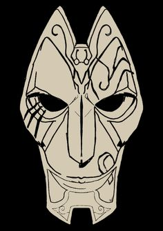 Jhin's mask from league of Legends