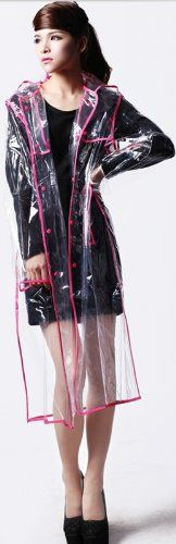City Block Bearcat Transparent with Colorful Edge Fashion Raincoat * Continue to the item at the image link.