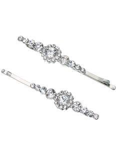 2 x Pretty Crystal Deco Grips | Clear | Accessorize, 9,90e