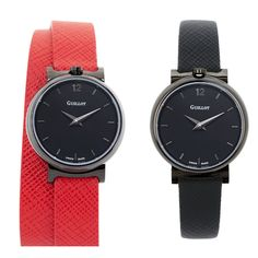 Find your watch style with Guillot Red S, Red Black, Double S, Parisian, Bracelets, Black Women, Have Fun, Fashion Accessories, Watches