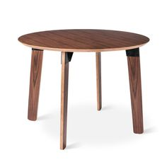"""Sudbury Table - Round. Maybe. 41"""" diameter is a bit small. Shown with Thonet chairs and looks pretty good. :)"""