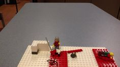 Middle schoolers using iStopMotion, Legos and an iPad during PHILS to create a short stop motion project.