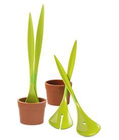 SALAD PLANT   Flower Pot, Potted Plant Salad Servers