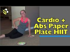 Low Impact Cardio + Abs Paper Plate HIIT - Quick and Quiet at-Home Workout Get your daily dose of cardio with a pair of paper plates.  This is a fast-paced and fun HIIT workout!