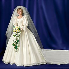 Princess Diana Commemorative Poseable Porcelain Bride Doll from The Bradford Exchange