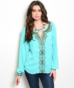 Miss Me Yet- Mint Colored Blouse – URBAN MAX LLC