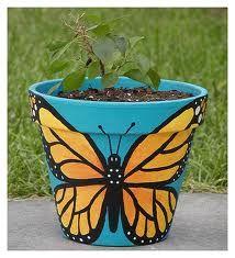 painted pots - Pesquisa Google