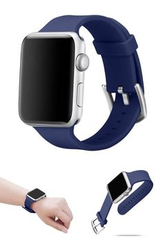 Apple Watch Soft Silicone Replacement Loop Strap Band for iWatch 42mm Navy #Alritz