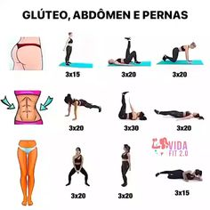 Fitness Workouts, Fitness Workout For Women, Easy Workouts, Morning Ab Workouts, Workout Videos For Women, Gym Workout Videos, Gym Workout For Beginners, Full Body Gym Workout, Butt Workout