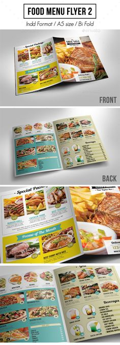 Pop Art Food Flyer / Menu | Pop Art Food, Menu And Food Menu