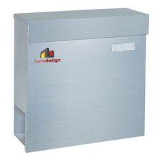 HomeDesign, Cassetta portalettere HDM-1100, in acciaio INOX, 102868: Amazon.it: Fai da te