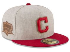 super cute 991a6 05bce Cleveland Indians New Era MLB Leather Ultimate Patch Collection 59FIFTY Cap