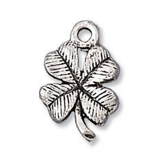 Pewter Four Leaf Clover charm