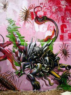 Foto: • ARTIST . VILE •  ◦ Untitled ◦ location: Damaia, Lisboa, Portugal #streetart