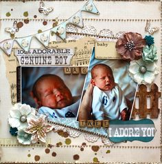 Day Two **Epiphany Crafts** - Scrapbook.com - #scrapbooking #layouts #baby #epiphanycrafts