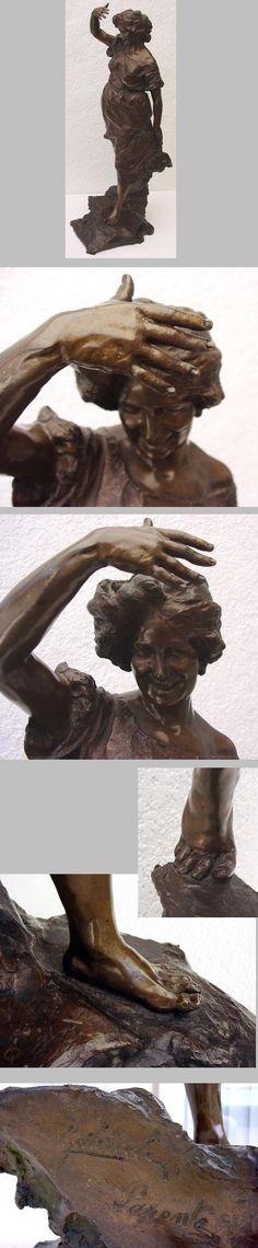 Gabriele Parente 1875-1899 important sculpteur Italy 19th century,   huge bronze signed.Große signierte Bronze  .Nils Konrad Antiquitäten   und Kunst.74248 Ellhofen bei Heilbronn ,Baden-Württemberg Deutschland   / Germany