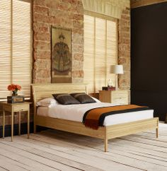 The Long Island bed in solid ash from And So To Bed http://www.andsotobed.co.uk/long-island-wooden-contemporary-bed.html#
