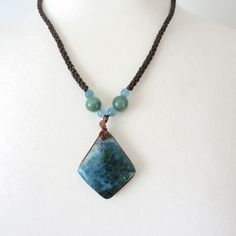 Leather and Turquoise Necklace at La Dalia