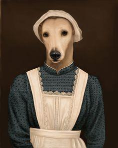 Anna Greyhound Portrait - Downton Abbey - 8x10 Signed Print. $22.00, via Etsy.