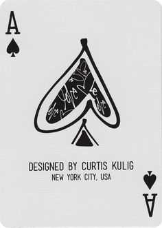 The Ace of Spades from Love Me Playing Cards by Curtis Kulig