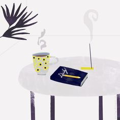 morning rituals, illustration by Penelope Dullaghan