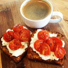 Love the bright colours of this breakfast - @Michelle Flynn Bridges Ricotta Toast with Roast Tomatoes - delicious!
