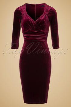 Vintage Chic TopVintage Exclusive Velvet Pencil Dress 100 20 19630 20161010 0003W