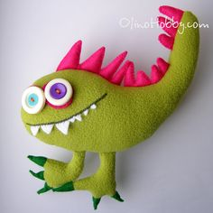 monster Zhorik made ​​of fleece and felt