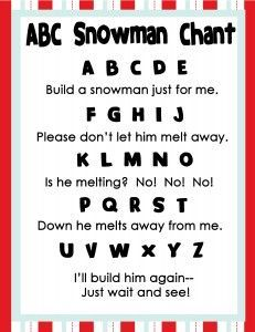 Fun snowman songs, crafts and letter writing- perfect for your preschooler this winter!