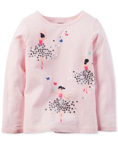 Carter's Girls' Ballerina Graphic Sweatshirt