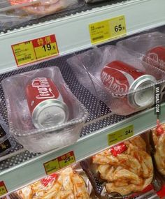 Coke in a bowl in a Hong Kong supermarket... What? Why?