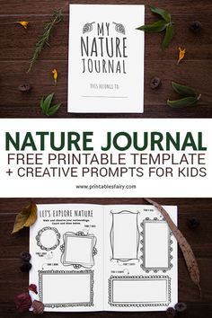 Start a nature journal with your kids using this free printable template. Learn how to keep a nature journal and why you should do it. Plus get 16 creative nature prompts Autumn Activities For Kids, Nature Activities, Indoor Activities, Family Activities, Indoor Games, Spring Activities, Preschool Activities, Journal Prompts For Kids, Journal Ideas