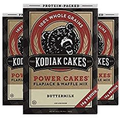 Featured on Shark Tank: Kodiak Cakes Power Cakes Protein-Packed Flapjack & Waffle Mix in Buttermilk Nutrition Facts Image, Latte, Whole Grain Wheat, Kodiak Cakes, Waffle Mix, Nutritious Breakfast, Unsweetened Chocolate, Protein Pack, Chocolate Strawberries