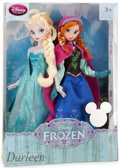 "Anna and Elsa 11"" doll set to be previewed at the 2013 D23 Expo (and sold in Disney Stores this Fall)"