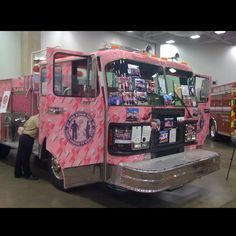 Breast cancer firetruck , awesome !