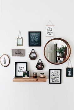 home decor diy Wall Decor Inspiration: Best Ideas How To Living Room Wall Decor - - home-decor - stylish wall decor for living room diy bedroom idea boho kitchen rustic modern famrhouse unique bohemian 15 - Creative Wall Decor, Creative Walls, Cute Wall Decor, Wall Decor With Mirrors, Wall Decor With Pictures, Wall Of Frames, Hanging Frames, Unique Wall Decor, Frames On Shelf