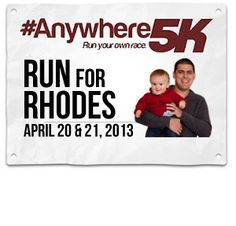 This virtual race on 4/20-4/21 is in honor of Dustin Rhodes, a runner w/brain cancer (also for Nat'l Cancer Control Month). He could use our moral support; please join us!