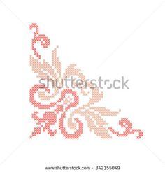 Cross Stitch Borders, Cross Stitch Flowers, Cross Stitch Designs, Cross Stitch Patterns, Ribbon Embroidery, Cross Stitch Embroidery, Cross Stitch Freebies, Crochet Circles, Yarn Thread