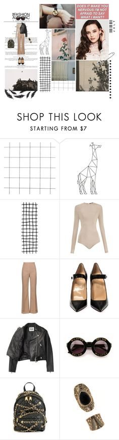 """Does it make you nervous I'm not afraid to say what I want?"" by miky94 on Polyvore featuring moda, Balmain, Nina Ricci, Christian Louboutin, Acne Studios, Wildfox, Moschino e Forever 21"