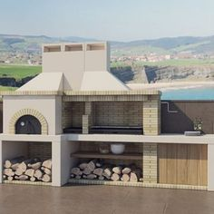 Barbecues archivos - Argemi prefabricatsArgemi prefabricats Pizza Oven Outdoor, Outdoor Cooking, Design Barbecue, Decor Interior Design, Interior Decorating, Parrilla Exterior, Bbq Places, Brick Bbq, Concrete Interiors