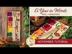 A Year in Words Wall Hanging | How to Make a Pieced Leaf Block - Free Pattern Download | Shabby Fabrics Shabby Fabrics, Free Pattern Download, Pattern Blocks, Fall Crafts, Quilt Blocks, The Creator, Gift Wrapping, Quilts, Wall