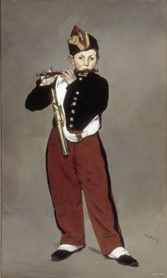 [청장년3] 오전 9시, 아들의 피리 연주회를 구경하러 갔다./피리부는 소년(마네)/유화, 캔버스에 유채, 161 x 97 cm