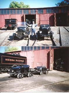Model T Ford Forum: Old Photo - The Hooterville Flivverball Jamestown Ca, Running Ahead, Rail Car, Bus Conversion, Northern California, How To Run Longer, Old Cars, Old Photos, Really Cool Stuff