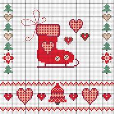 Schöne Weihnachtsmotive sticken - Entdecke hier dieses Motiv und zahlreiche weitere kostenlose Charts und Stickvorlagen zum Sticken.