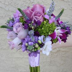 Another great bouquet with purple and greens
