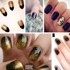 Festive glittery nail art