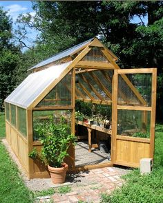 Greenhouse Kits Photo Gallery Great view with the open door. You can see the continuous roof vents.