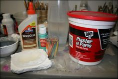 Perfecting the Plaster of Paris and Wood Glue Mix (Experimenting with ratios to determine the strongest viable mixture) How To Make Plaster, Diy Plaster, Plaster Crafts, Plaster Molds, Cement Crafts, Glue Painting, Sculpture Painting, Painting Stencils, Stenciling